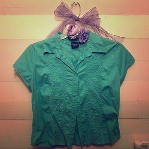 EUC Sonoma Lifstyle Large Turquoise shirt